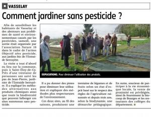 BR du 13 avril 2015. Vasselay. Cultiver sans pesticide.
