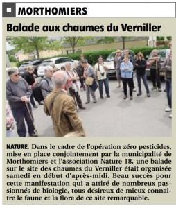 BR du mercredi 3 juin 2015. Visite du site des chaumes du Verniller. Mor...